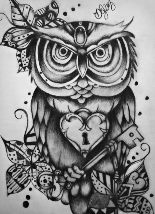 Owl of Hearts - Danielle Jordan