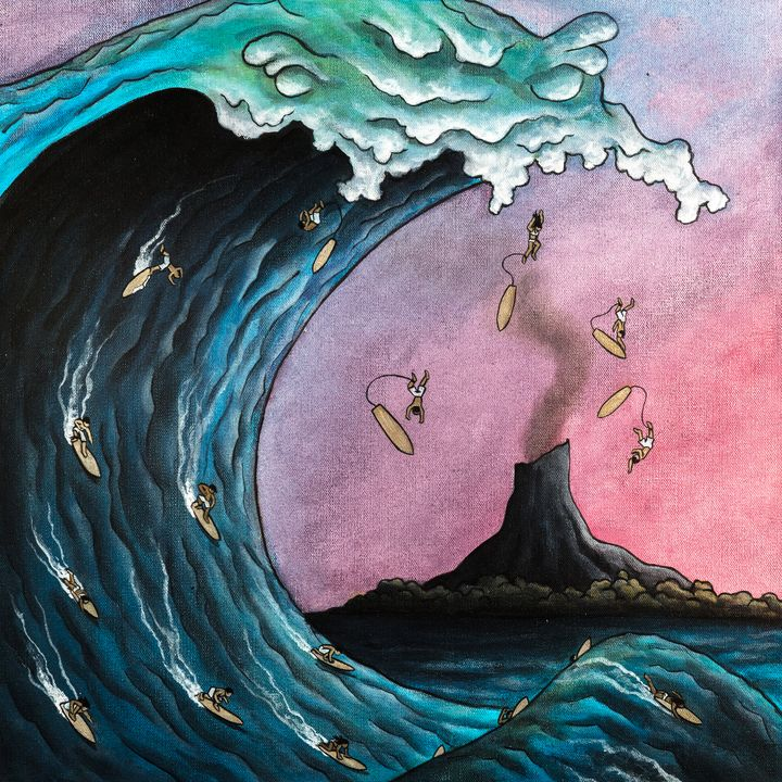 Monster Wave - Art of Justin Vowell