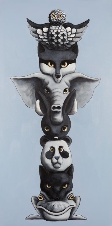 Totem Loco - Art of Justin Vowell