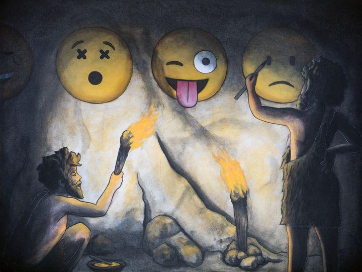 Social Media in Prehistory - Art of Justin Vowell