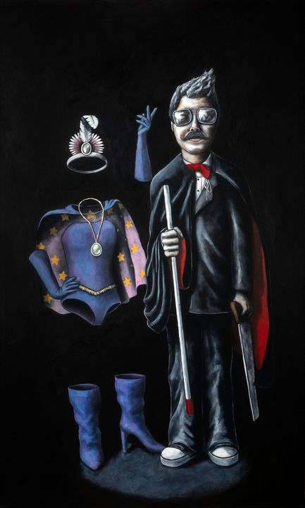 Blind Magician and Invisible Asst. - Art of Justin Vowell
