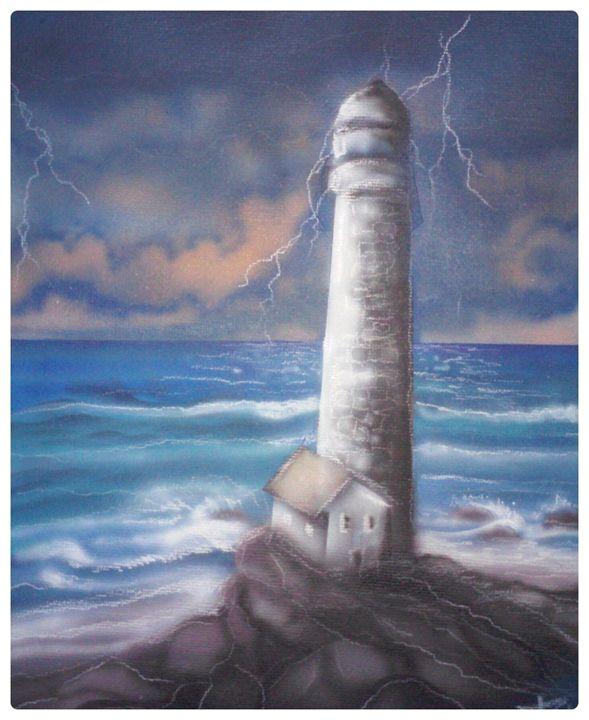 storm over light house - Paul'S All Original Gallery