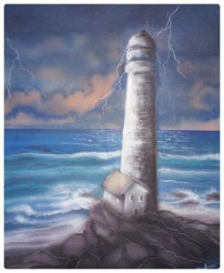 storm over light house