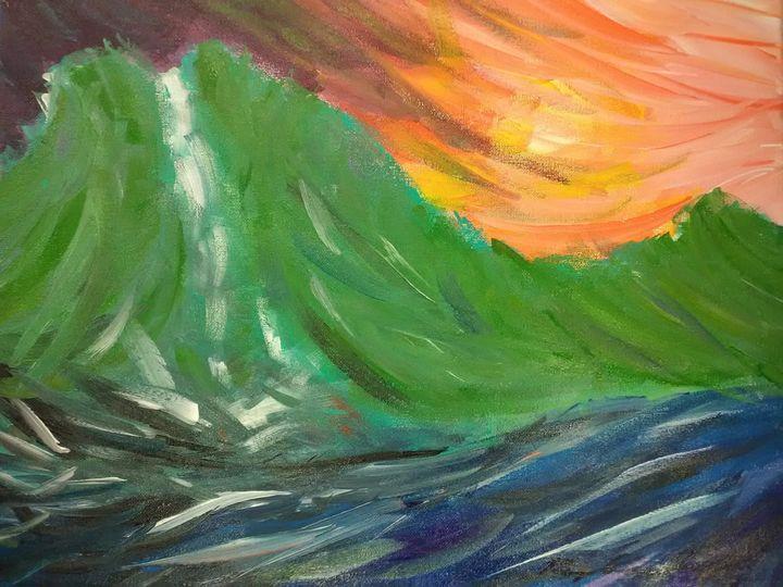 Vibrant Oahu Mountain Movement - Mary Dickson