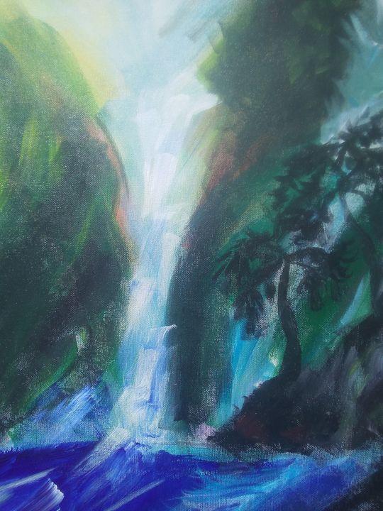 Lush Mountain Waterfalls - Mary Dickson