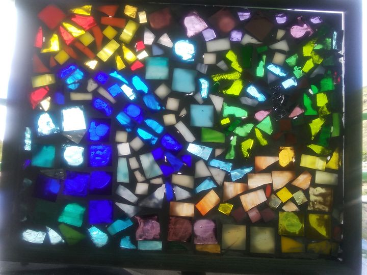 Abstract Surf Mosaic - Mary Dickson
