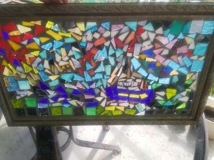 Fishing Boat Mosaic - Mary Dickson