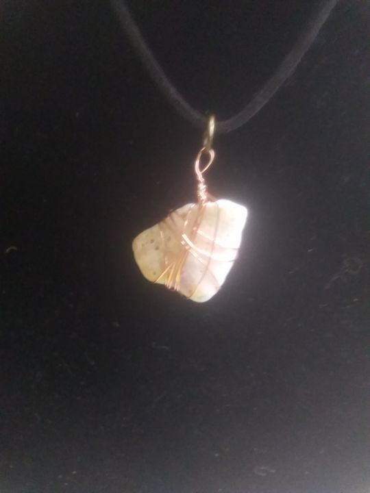 Wire Wrapped Wild Shell Necklace - Mary Dickson