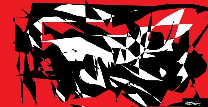 Black, White, and Red All Over. - StuArtistStudio