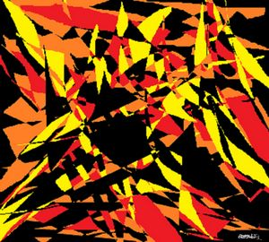 Fiery Abstract Collage