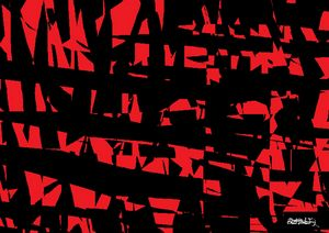 Red and Black Abstract Collage 1