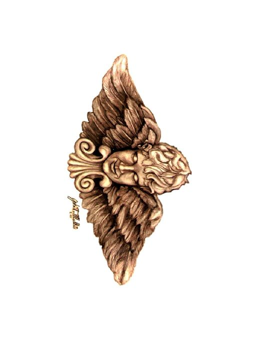 winged head - Mullis Art