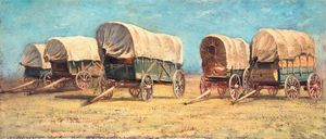 Study of Covered Wagons - Oh So Artsy