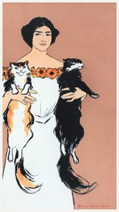 Lady holding cats
