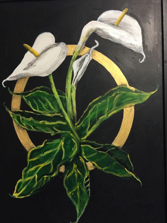 Calla Lilies - Art by Barbara Saul