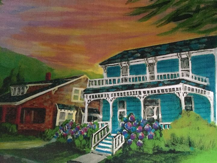 Ashland Sunset - Art by Barbara Saul