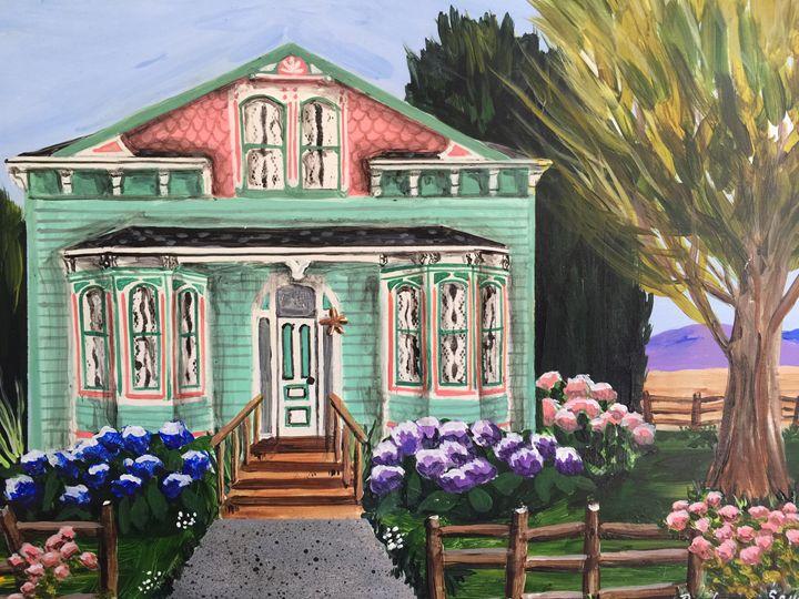 Ferndale Farmhouse #1 - Art by Barbara Saul