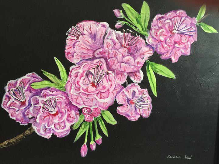 Cherry Blossoms - Art by Barbara Saul