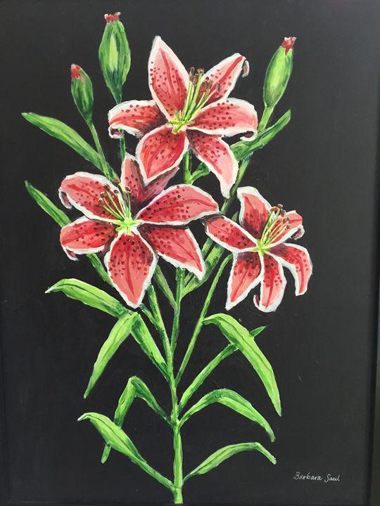 Lilies - Art by Barbara Saul