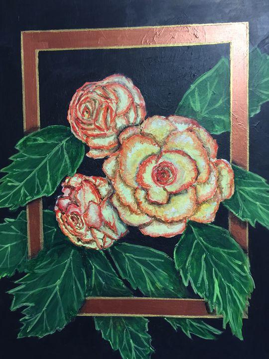 Begonias - Art by Barbara Saul