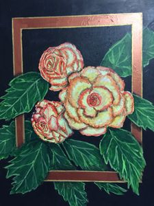 Begonias - Art by Barbara Saul