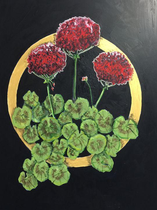 Geraniums - Art by Barbara Saul