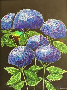 Blue Hydrangeas - Art by Barbara Saul