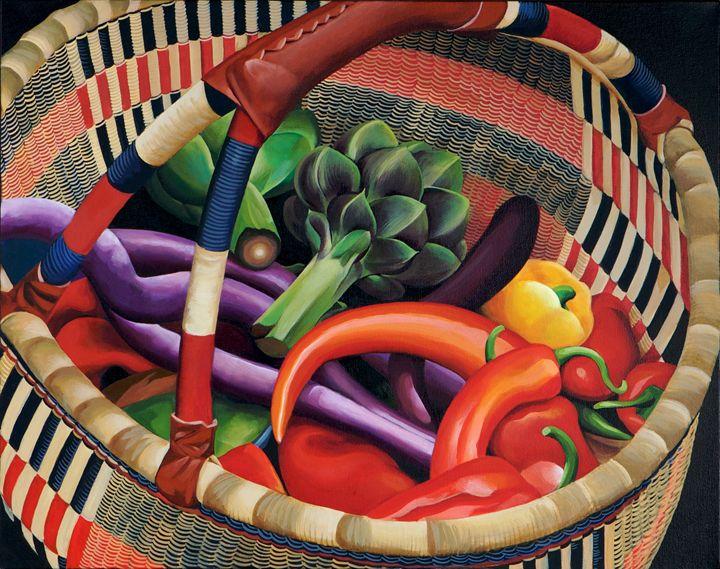 Farmers Market Basket - Epperson Artworks