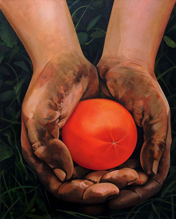 Hands Holding a Tomato - Epperson Artworks