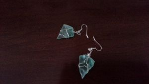 sea glas earrings