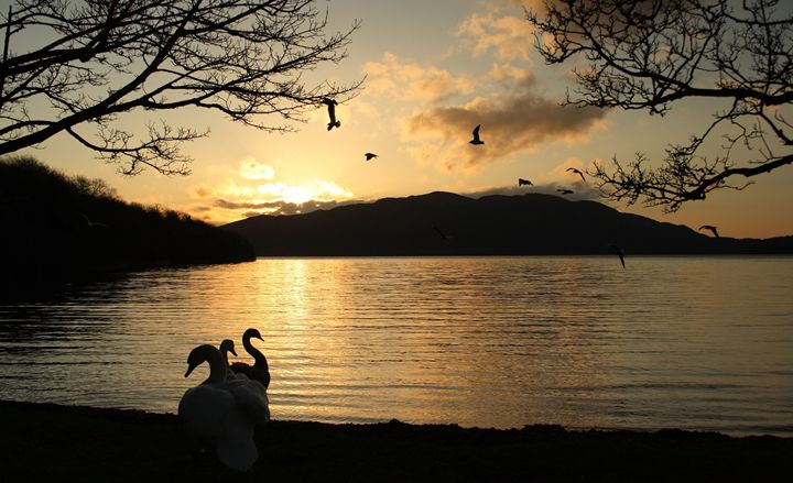 Sunrise at Irish lake - peter gau
