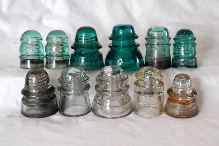 Vintage Glass Insulators - Perkins Designs
