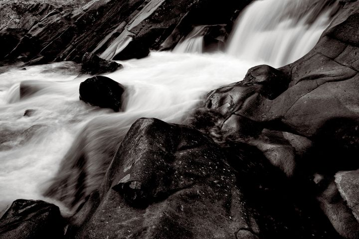 Black And White Waterfall - Perkins Designs