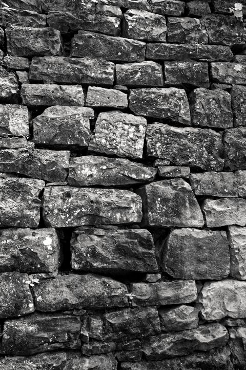 Black And White Stone Wall - Perkins Designs