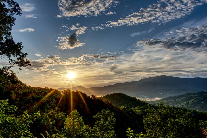 Smoky Mountains Sunrise 4 - Perkins Designs
