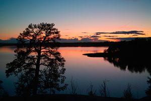 Nordic sunset Finland Helsinki