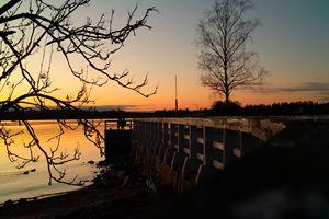 Romantic sunset in Helsinki