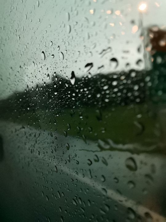 Rain drops on a windsheild - #bymohenski