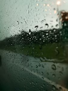 Rain drops on a windsheild