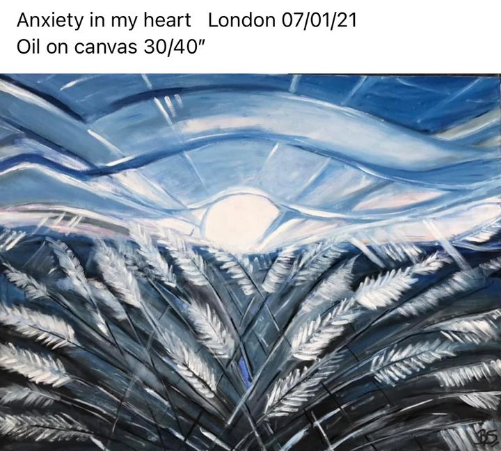 Anxiety in my heart - wild grasses - Bogumil Staciwa