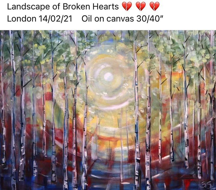 Landscape of broken hearts - Birch - Bogumil Staciwa
