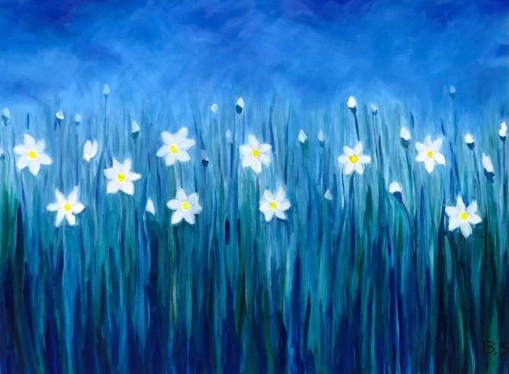 Daffodils- My Mom's flowers - Bogumil Staciwa