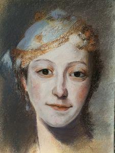 After Q.D.L.Tour Portrait of M. Fel