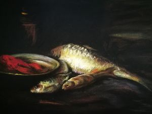"""After William Merritt Chase """"Fish"""""""