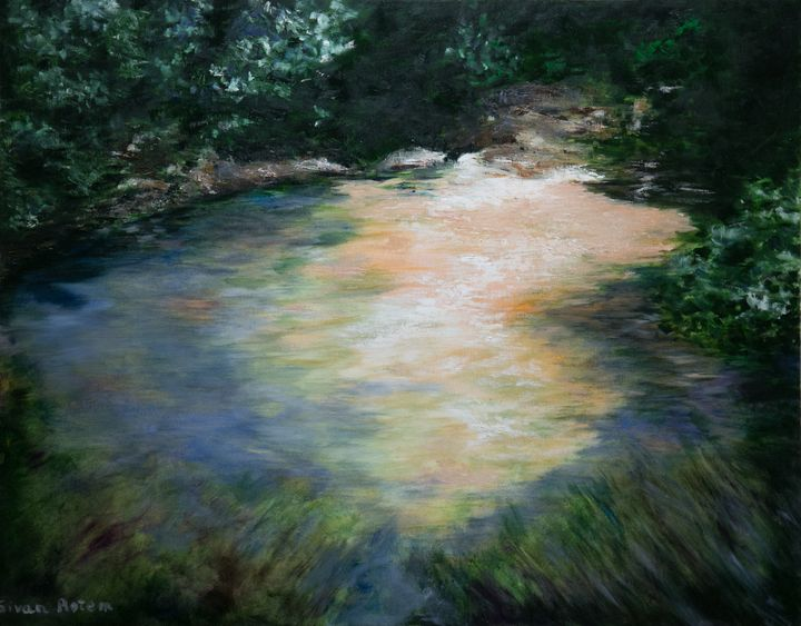 The Amud River, Oil on Canvas - Sivan Rotem's Gallery