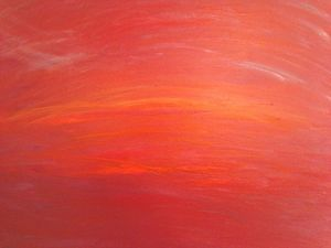 Crimson Sunset- Original Abstract