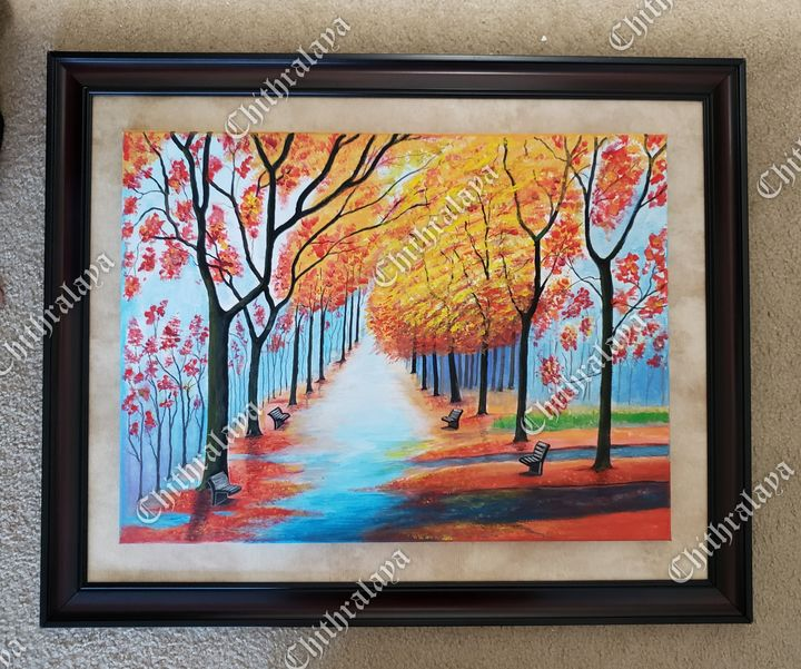 Acrylic painting. wall decor. Nature - Chithralaya