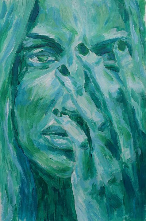 Green portrait - Anna Thomasdotter