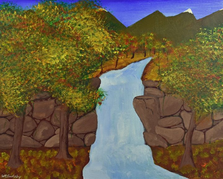 Fall's Water Fall - Paintings By William R Soulsby