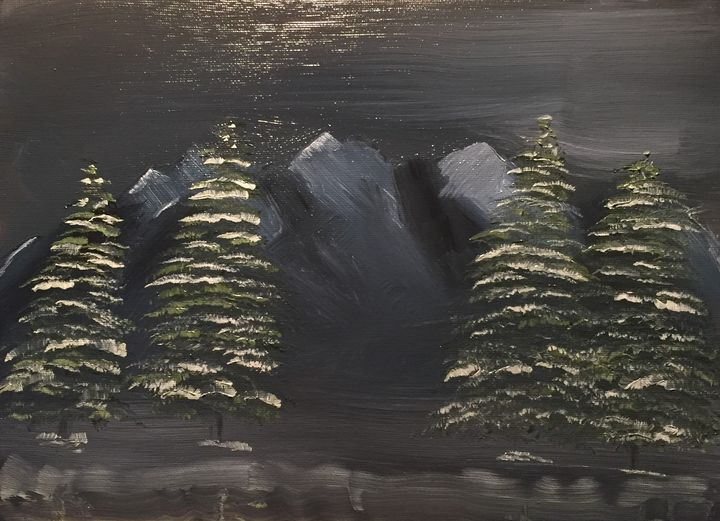 Midnight Snow - Paintings By William R Soulsby